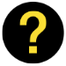 Icon showing a yellow question mark on a black background
