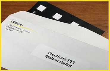 Image of Elections PEI mail-in ballot package